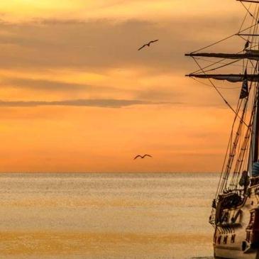 Sailing ship upon the sea