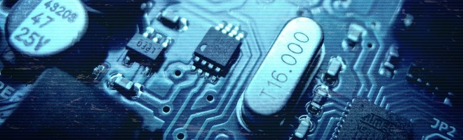 a close up computer chip