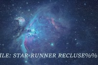 blue supernova in space with title %%Unknown File: Star-Runner Recluse%%