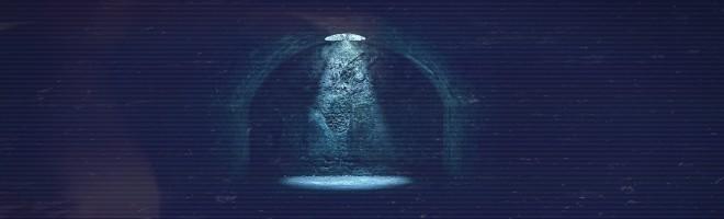 spotlight in underground corridor