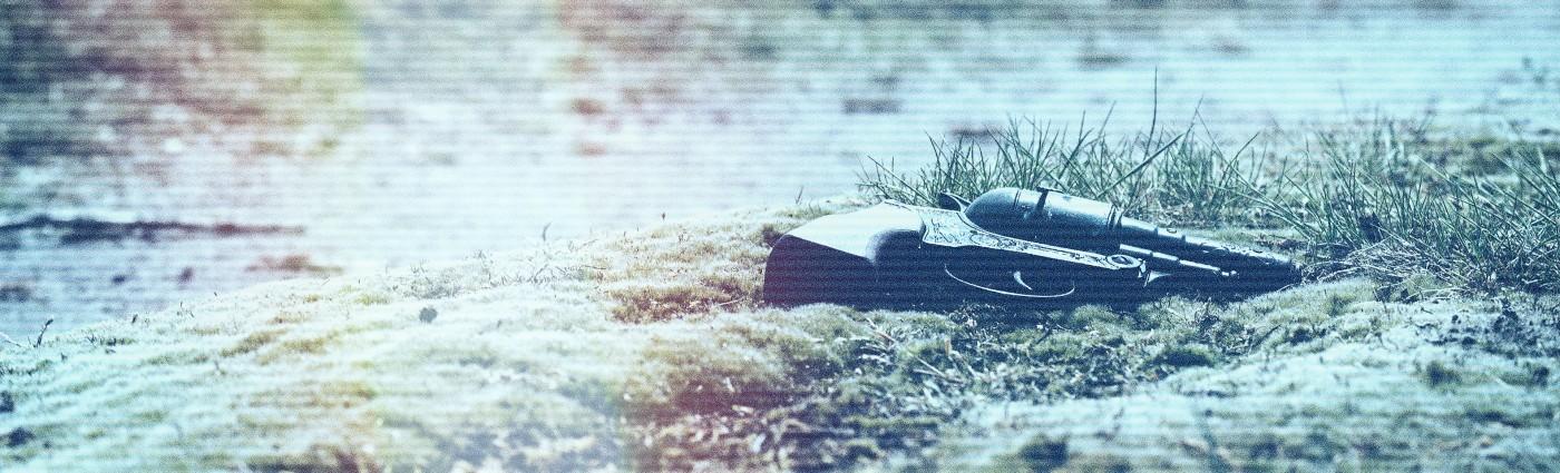 revolver lying in grass