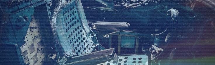 abandoned plane cockpit