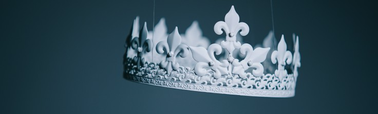 white crown on a grey background